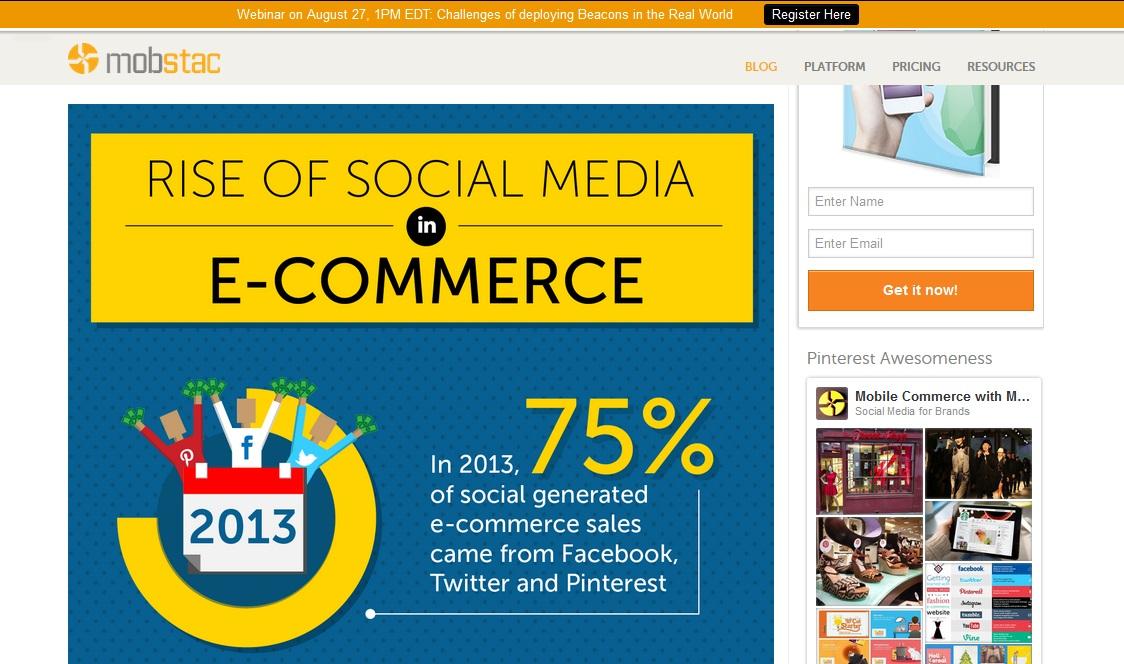 social media si e-commerce