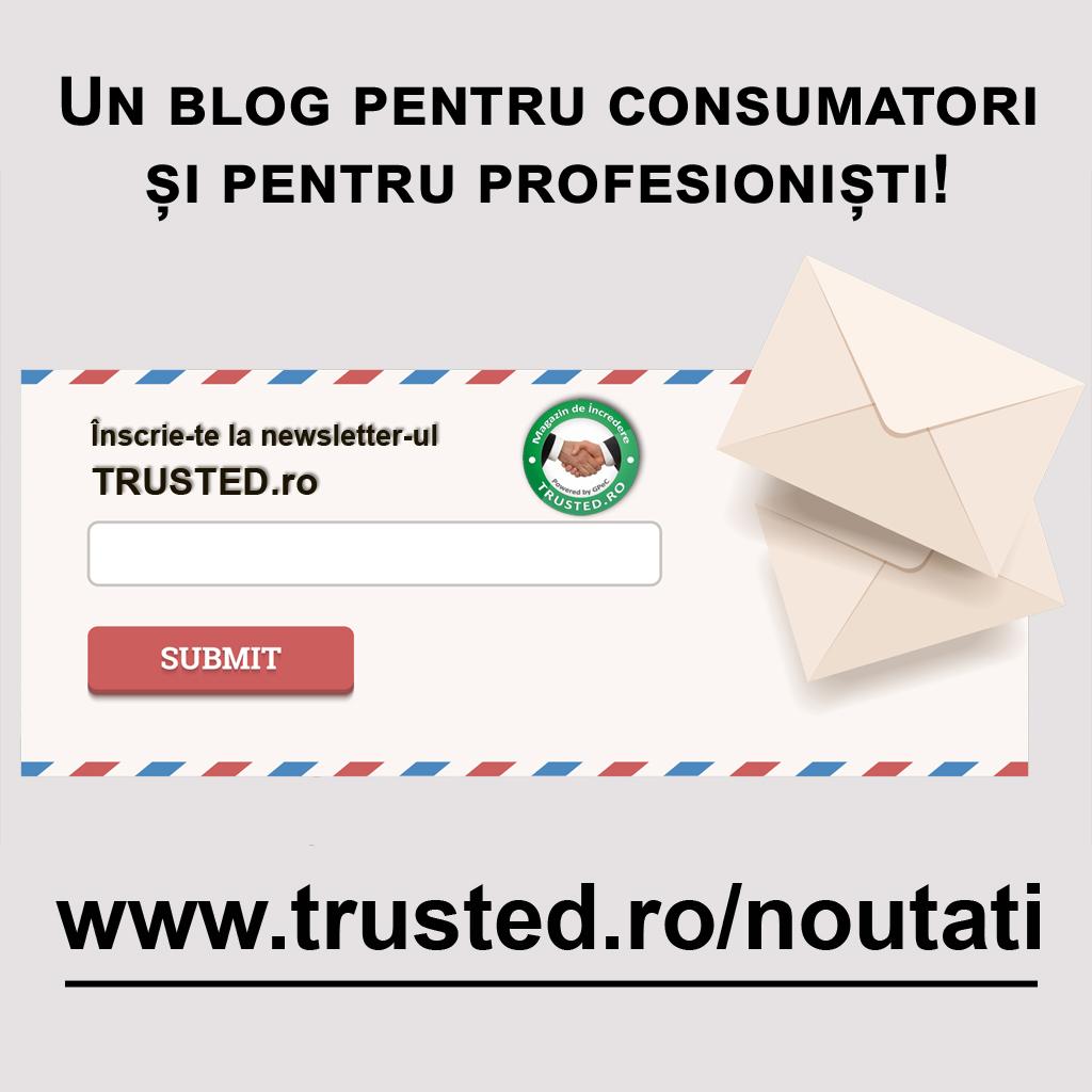 newsletter trusted.ro noutati comert online